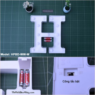 đèn chữ cái chạy pin