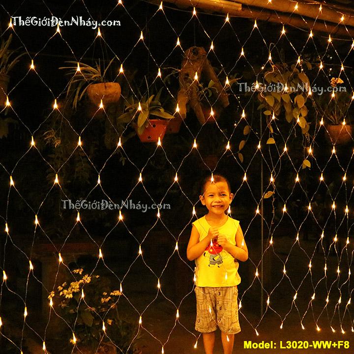Đèn lưới nháy 3m x 2m màu vàng