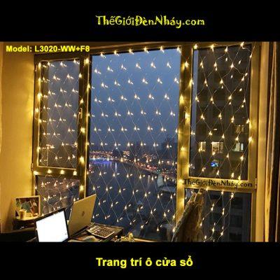 Lưới đèn led căng theo vách kính