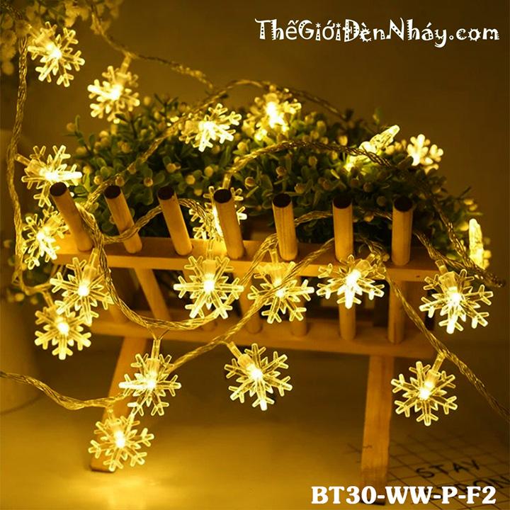 đèn bông tuyết chạy pin trang trí giỏ hoa