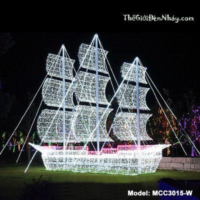 dèn led màu trắng trang trí hình tàu