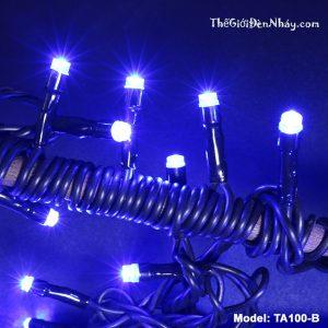 đèn trang trí dây đen - sáng xanh