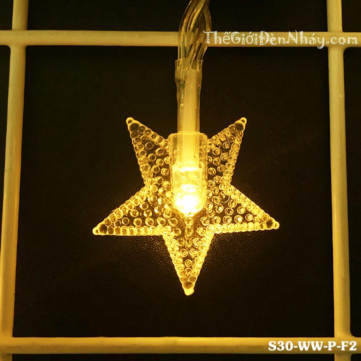 Bóng led được chụp vở nhựa hình sao phát sáng