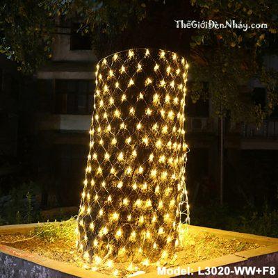 Lưới đèn led cuốn cây
