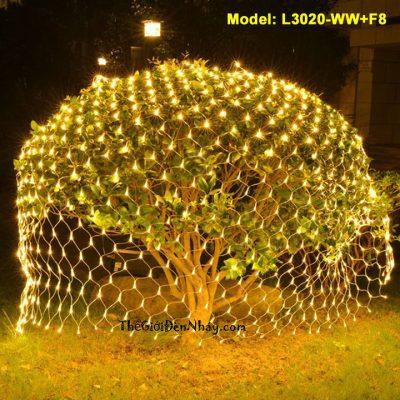 Đèn lưới trùm lên cây