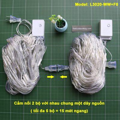2 bộ đèn lưới cắm nối nha