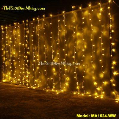 Đèn LED Mành Rèm ánh sáng vàng