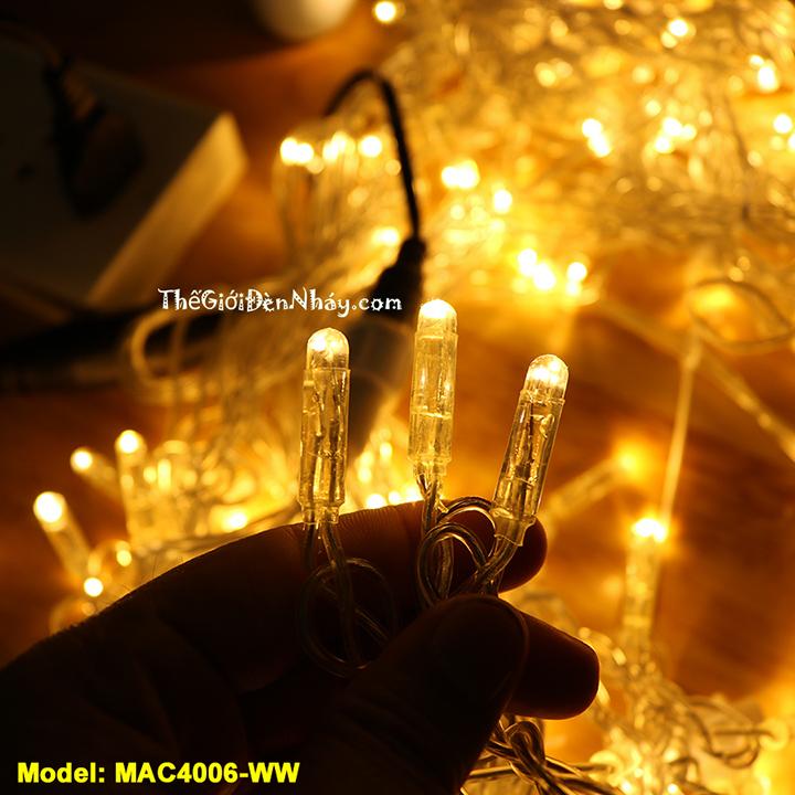chi tiết bóng led của đèn mành rèm