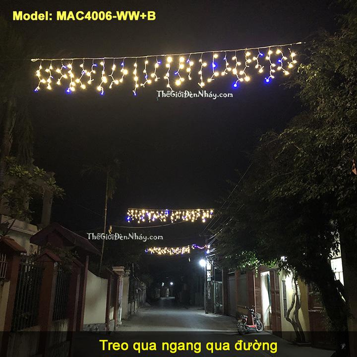 Đèn mành ánh sao treo ngang qua đường