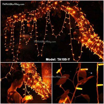 đèn trang trí màu vàng quấn cây
