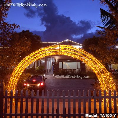đèn nháy màu vàng làm cổng