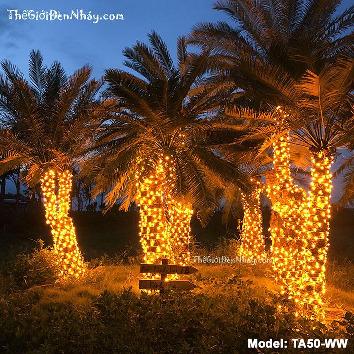 Đèn led cuốn cây