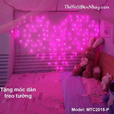 đèn trái tim hồng treo tường
