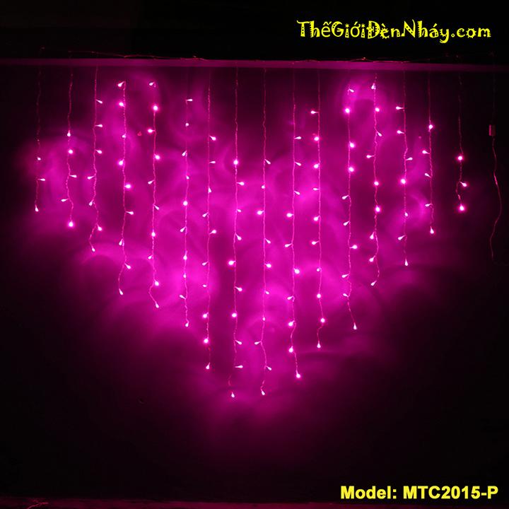 đèn trái tim hồng