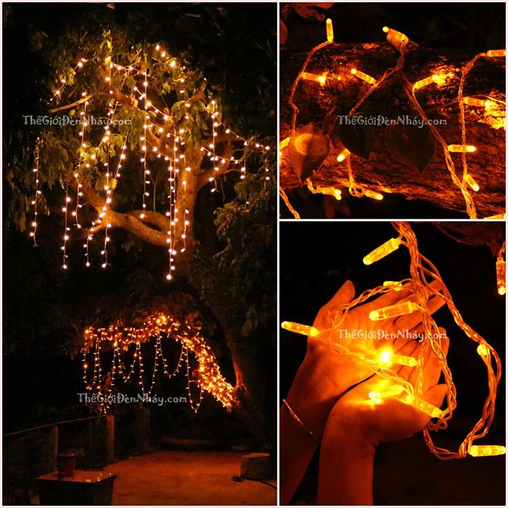 đèn trang trí màu vàng thả cây