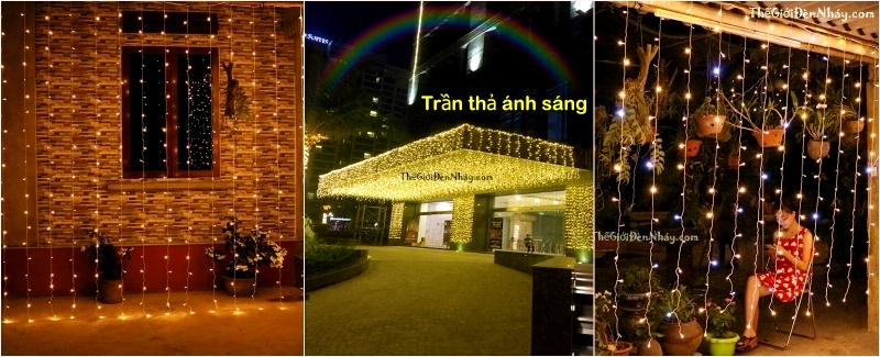 Đèn LED Dạng Mành Rèm