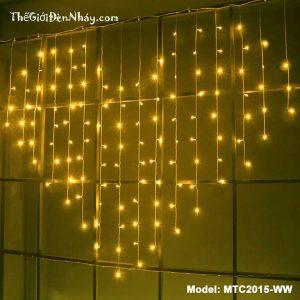 đèn trái tim màu vàng