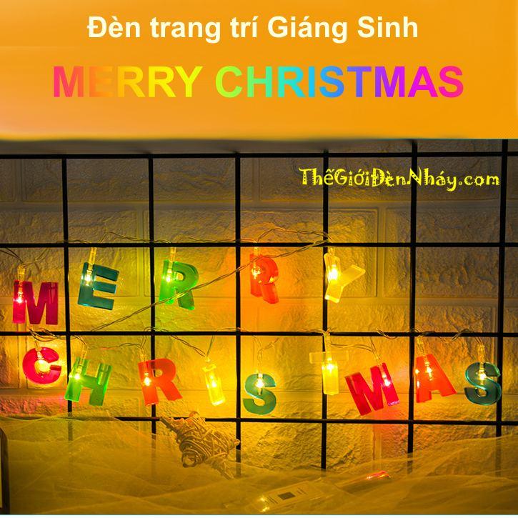 Đèn chữ Merry Christmas